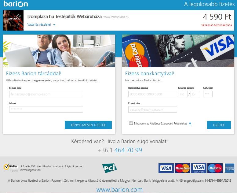 Bankkártyás fizetés - Izomplaza.hu Testépítők Webáruháza