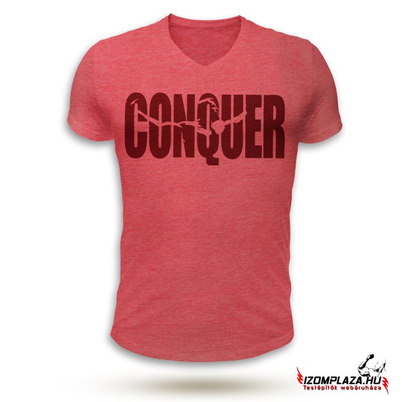 cc186b92f2 Férfi ruházat | Conquer V-nyakú póló (piros) | Izomplaza.hu ...