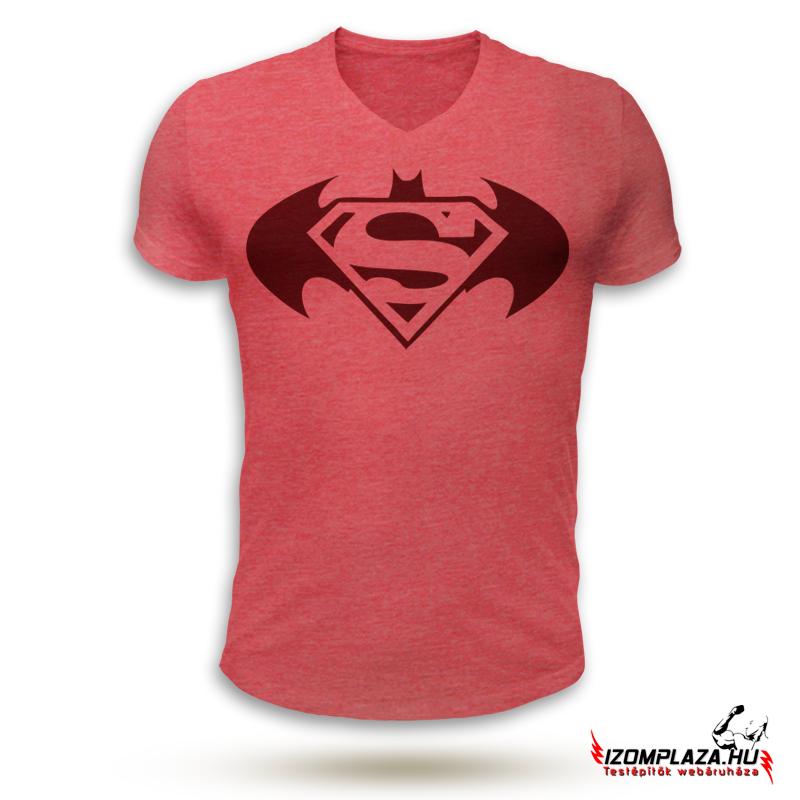 fffd32748c Férfi ruházat | Superman VS. Batman V-nyakú póló (piros) | Izomplaza ...