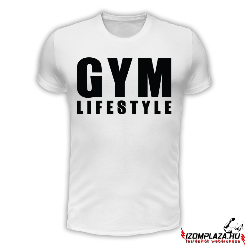 Gym lifestyle férfi póló (fehér) 94b604caa4
