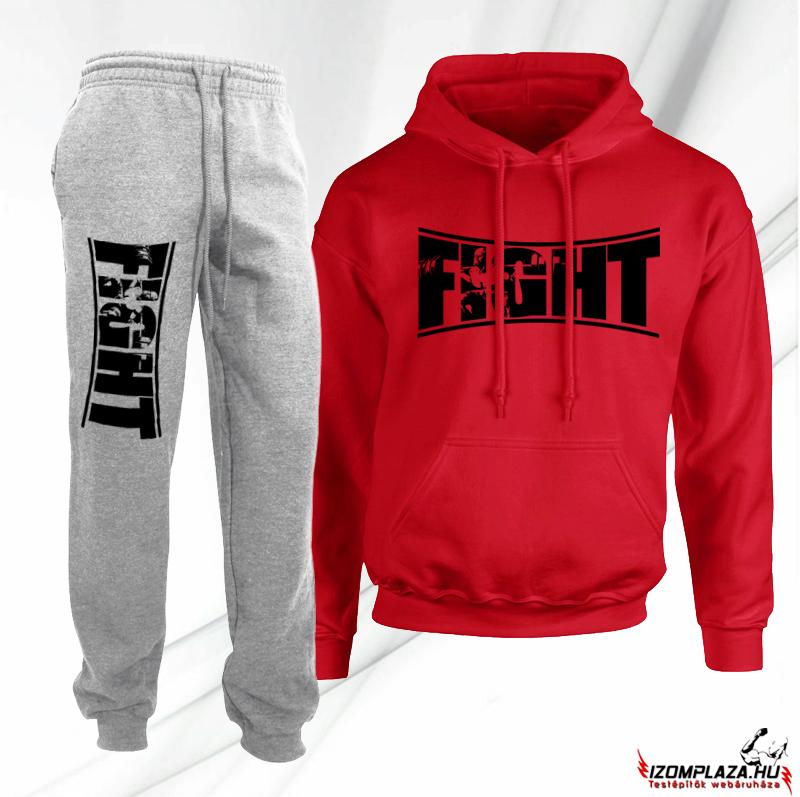 Fight piros-szürke melegítő szett (INGYEN SZÁLLÍTJUK) 36a3d8c1a7