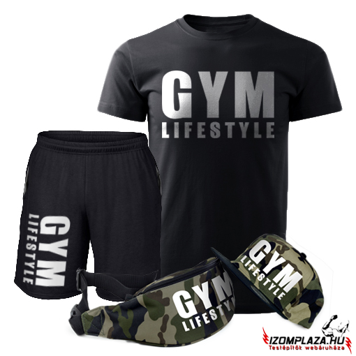 Gym lifestyle szett (póló+rövidnadrág+övtáska+sapka) 2dc4b7bc05