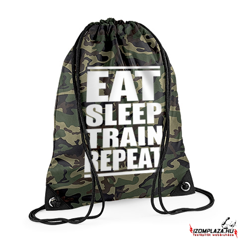Eat sleep train repeat - Gymbag/tornazsák (terep)