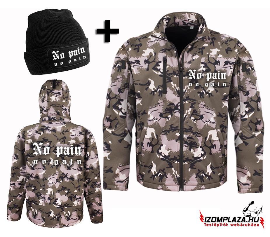 3856a139b0 Kabátok, dzsekik | No pain no gain terepmintás kabát + kötött sapka ...