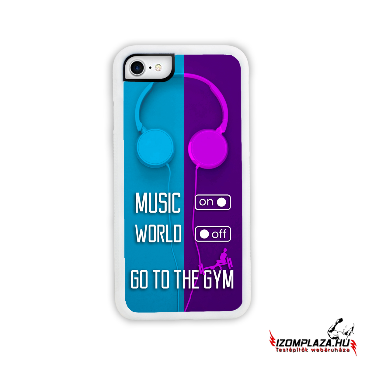Music on, world off, go to the gym - Huawei telefontok WH (kék-lila)