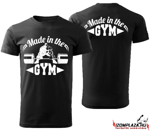 Made in the gym (fekete póló)