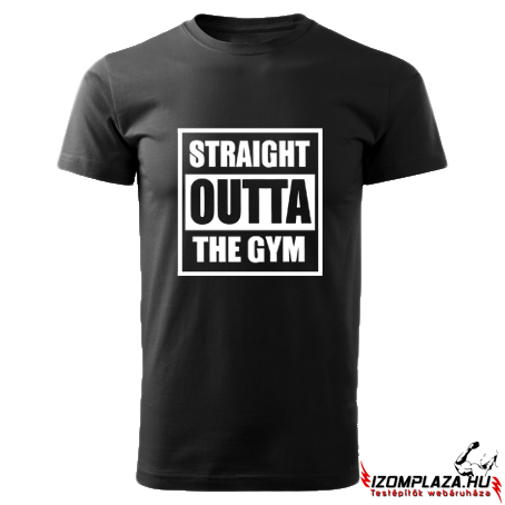 Straight outta the gym (fekete póló)
