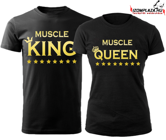 Muscle King - Muscle Queen póló szett