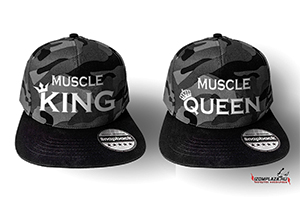 Muscle King & Muscle Queen páros terepmintás snapback sapka