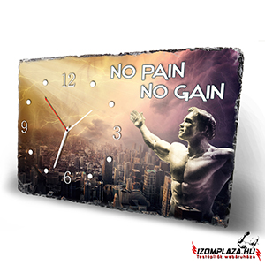 No pain No gain - kőlap falióra