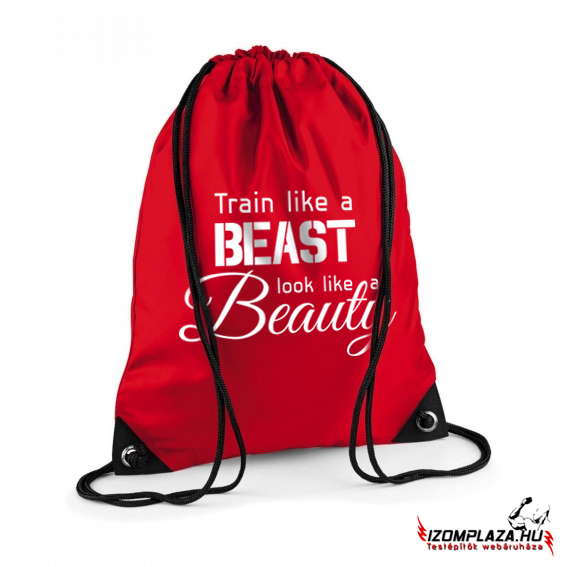 Train like a beast, look like a beauty - Gymbag/tornazsák (piros)