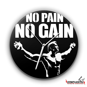 No pain No gain üveg falióra (02)