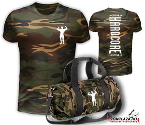 453c8262a0 Hardcore Gym - terepmintás póló+edzőtáska (new) INGYEN SZÁLLÍTJUK empty