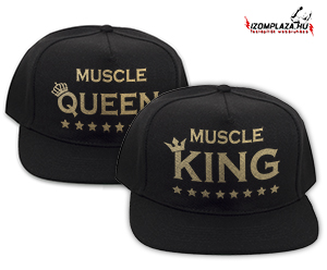 Muscle King & Muscle Queen páros snapback (fekete)