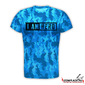 I am hero technikai póló (blue camo)