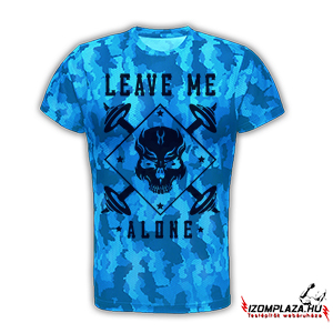 Leave me alone technikai póló (blue camo)