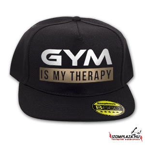 Gym is my therapy snapback (fekete)