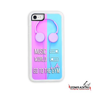 Music on, world off, go to the gym - iPhone telefontok (pink)