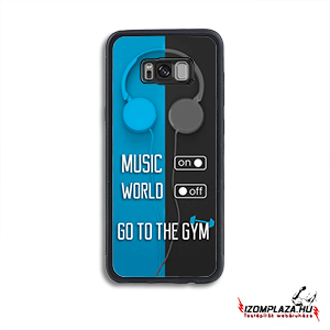 Music on, world off, go to the gym - Huawei telefontok  (kék-szürke)