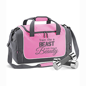 Train like a beast, look like a beauty edzőtáska (pink-grafit)