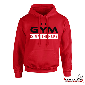 Gym is my therapy pulóver (piros)