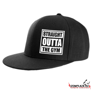 Straight outta the gym snapback (fekete)