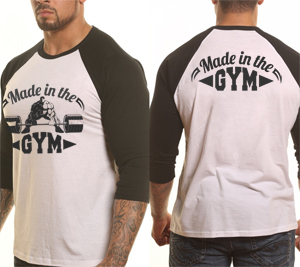 Made in the gym 3/4-es póló