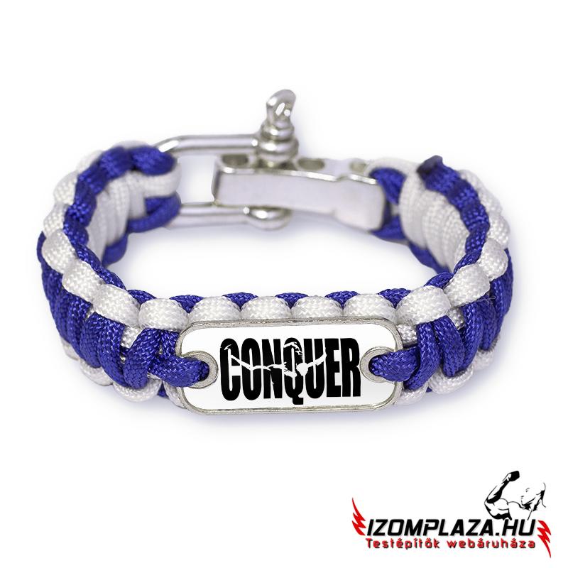 3947d1db9f Paracord karkötők | Conquer karkötő (kék-fehér) | Izomplaza.hu ...