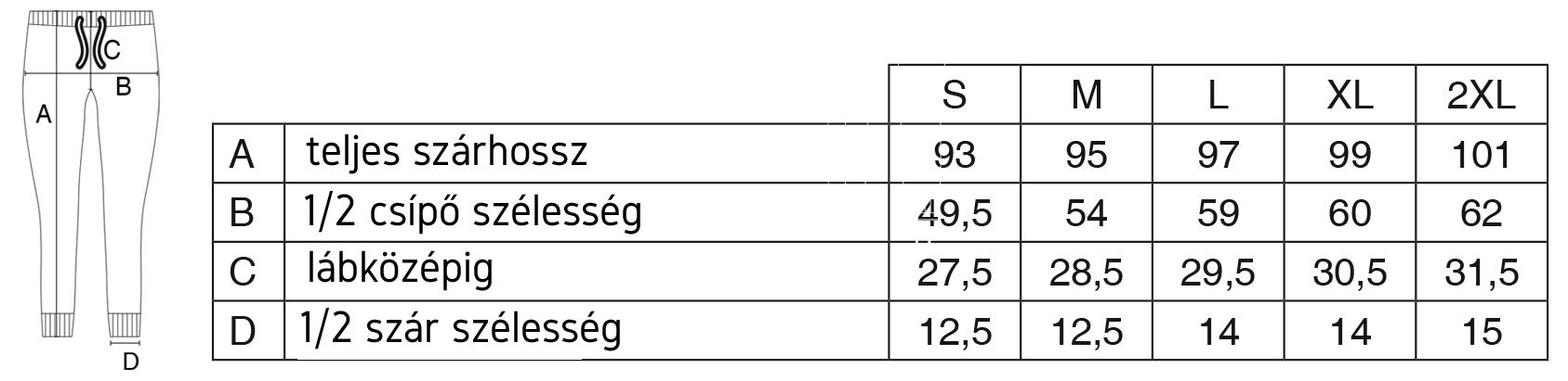 Melegítő nadrág mérettáblázat - Izomplaza.hu Testépítők Webáruháza d98512e423